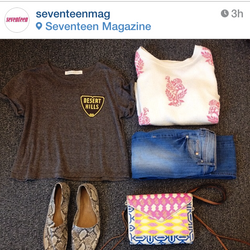 "Seventeen Mag chooses Brothers ""Desert Hills"" for Outfit of the Day"