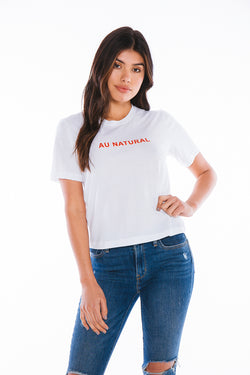 BROTHERS 'AU NATURAL' CROPPED TEE