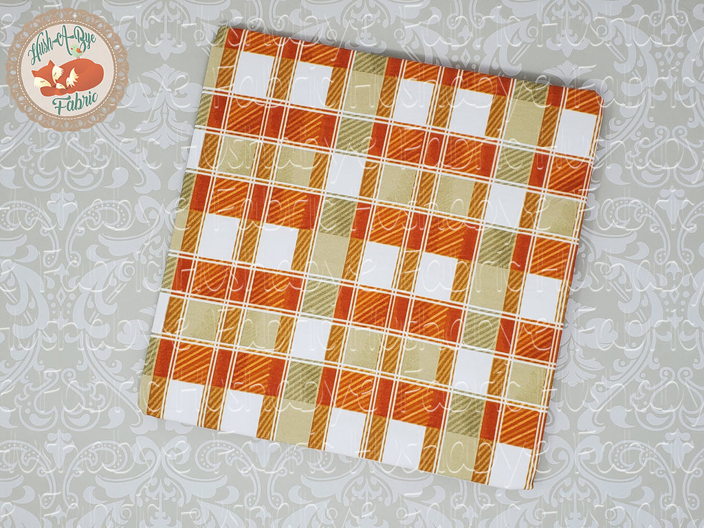 Orange and sage plaid Retail