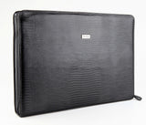 Petek 1855, Model: 2801, Black Luxury Leather Briefcase, front