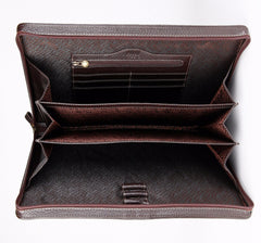 #2801 Petek 1855, Natural Dark Brown Leather Briefcase