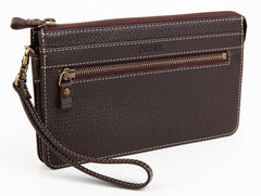#701 Brown, Men's Leather Clutch & Hand Bag