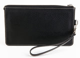 #702 Natural Black, Men's Leather Clutch & Hand Bag