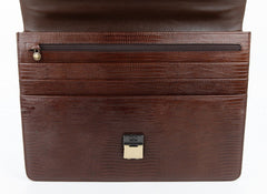 #752, Petek 1855, Brown Leather Briefcase