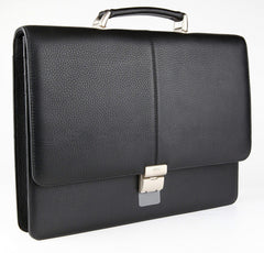 #777 Petek 1855 Black Leather Briefcase