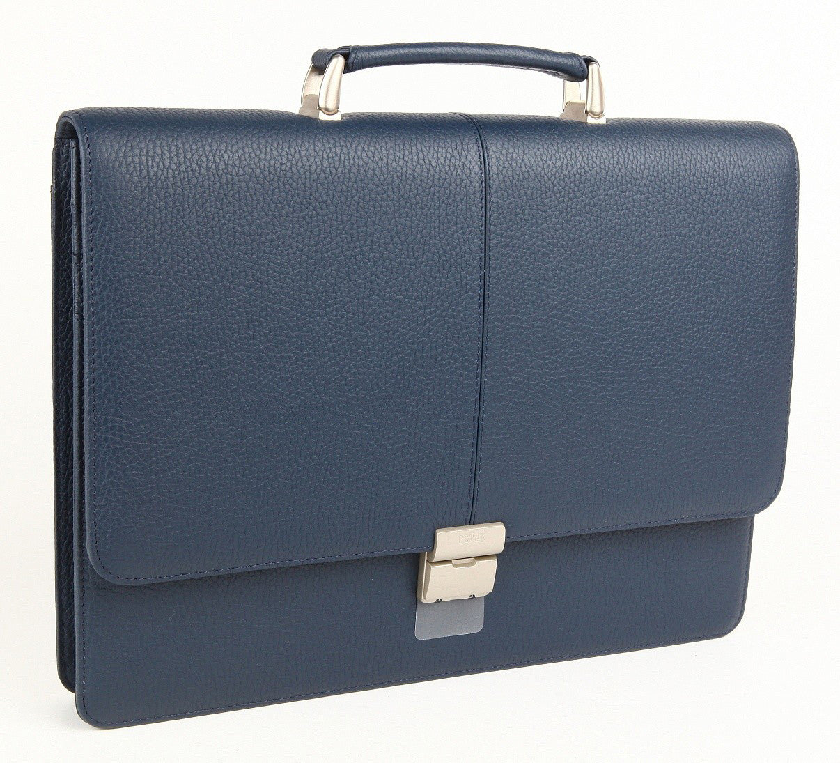 #777, Petek 1855 Blue Leather Briefcase