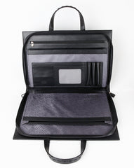 #812 Crocodile Black, Petek 1855 Briefcase