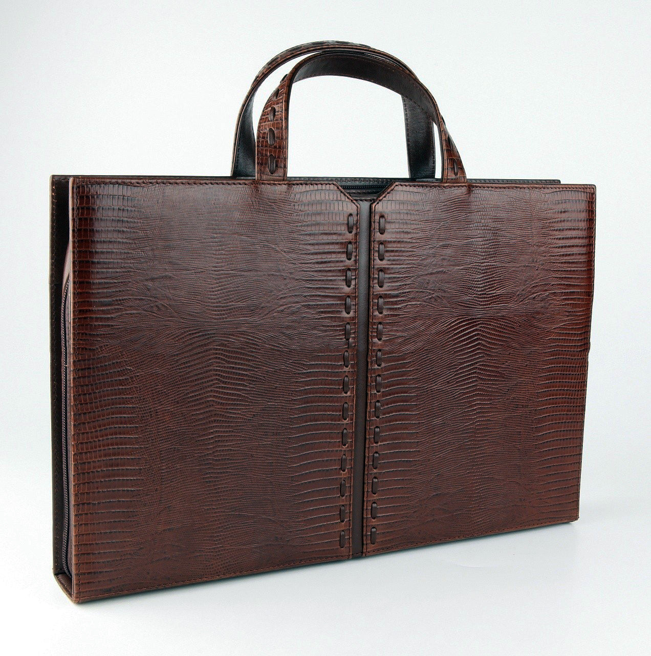 #812 Crocodile Brown, Petek 1855 Briefcase