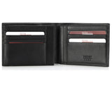 220, Petek 1855, Solid Black, Men's Leather Wallet