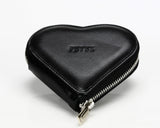 1303 Black, Zip Around Heart Shaped Coin Purse