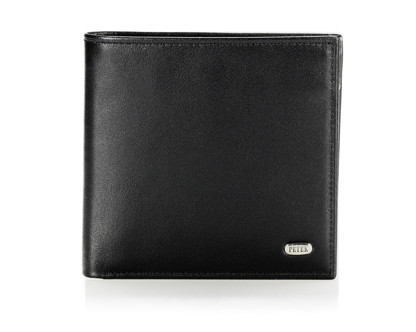 121, Petek 1855, Solid Black, Men's Leather Wallet
