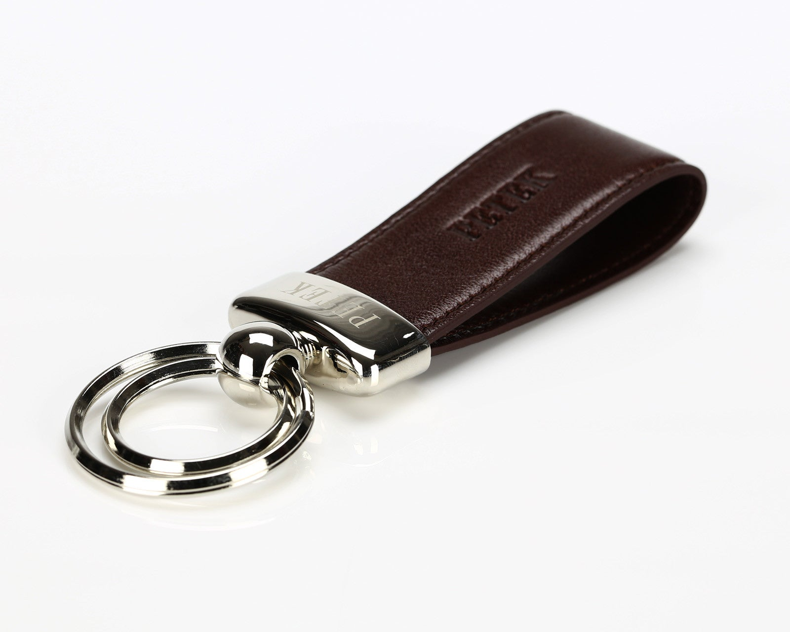 #1507 Brown, Leather Key Ring