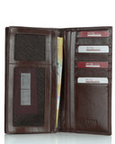244 Solid Brown, Business & Travel Wallet