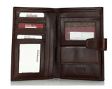 368 Solid Brown, Travel & Business Wallet With Coin Purse