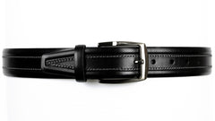 Guard #1303 35mm Black Cowhide Dress Belt