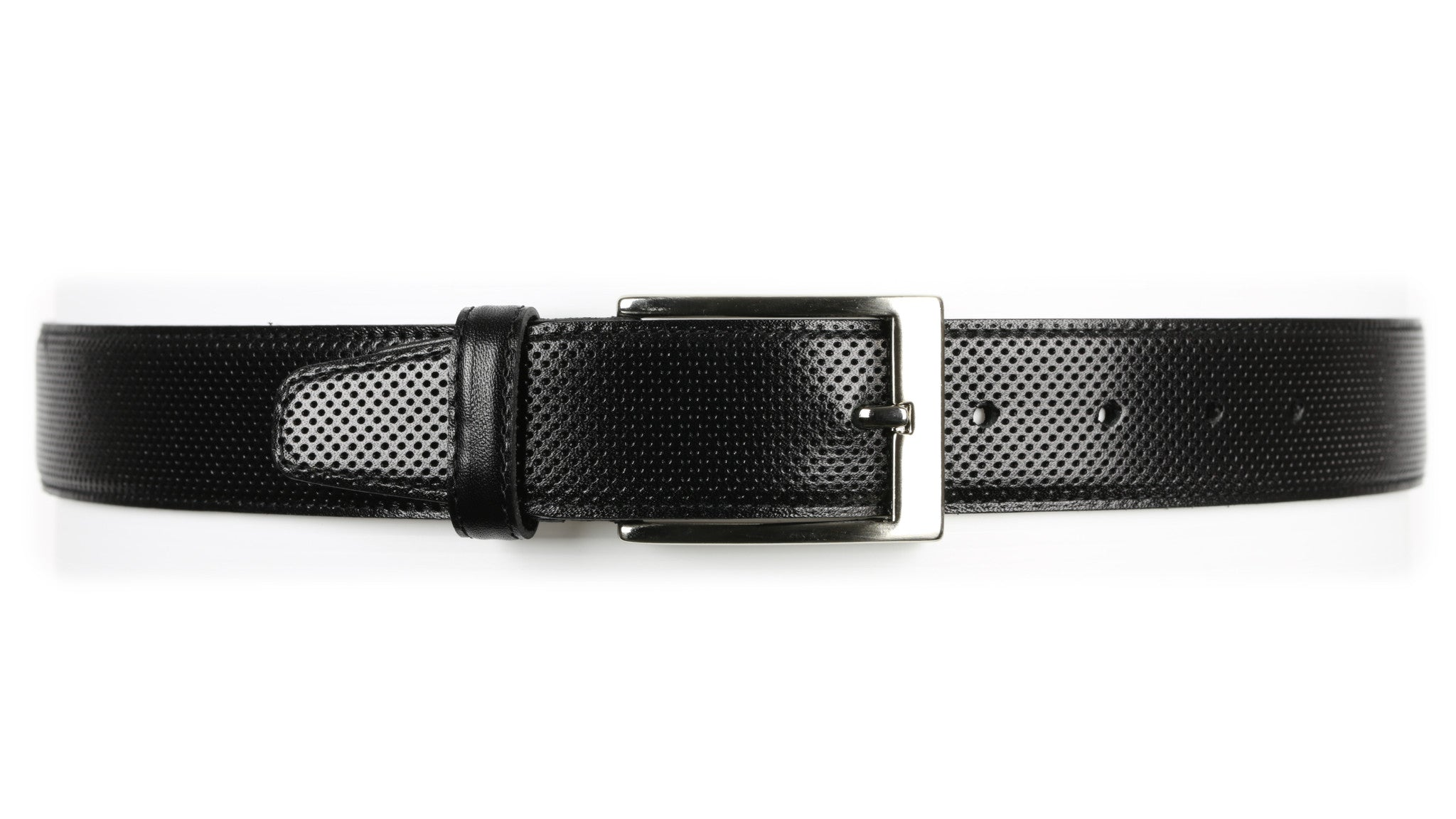 Guard #1296 35mm Black, Cowhide Dress Belt,
