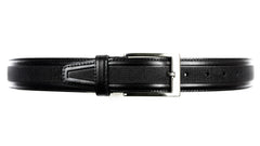Guard #1297 35mm Black Cowhide Dress Belt