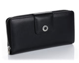 460 Solid Black  Clutch Wallet, Petek 1855