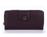 460 Burgundy  Clutch Wallet, Petek 1855