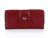 460 Crocodile Red  Clutch Wallet, Petek 1855