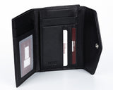308 Solid Black, Petek 1855 Women's Leather Wallet
