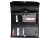408 Solid Black, Petek 1855 Women's Leather Wallet
