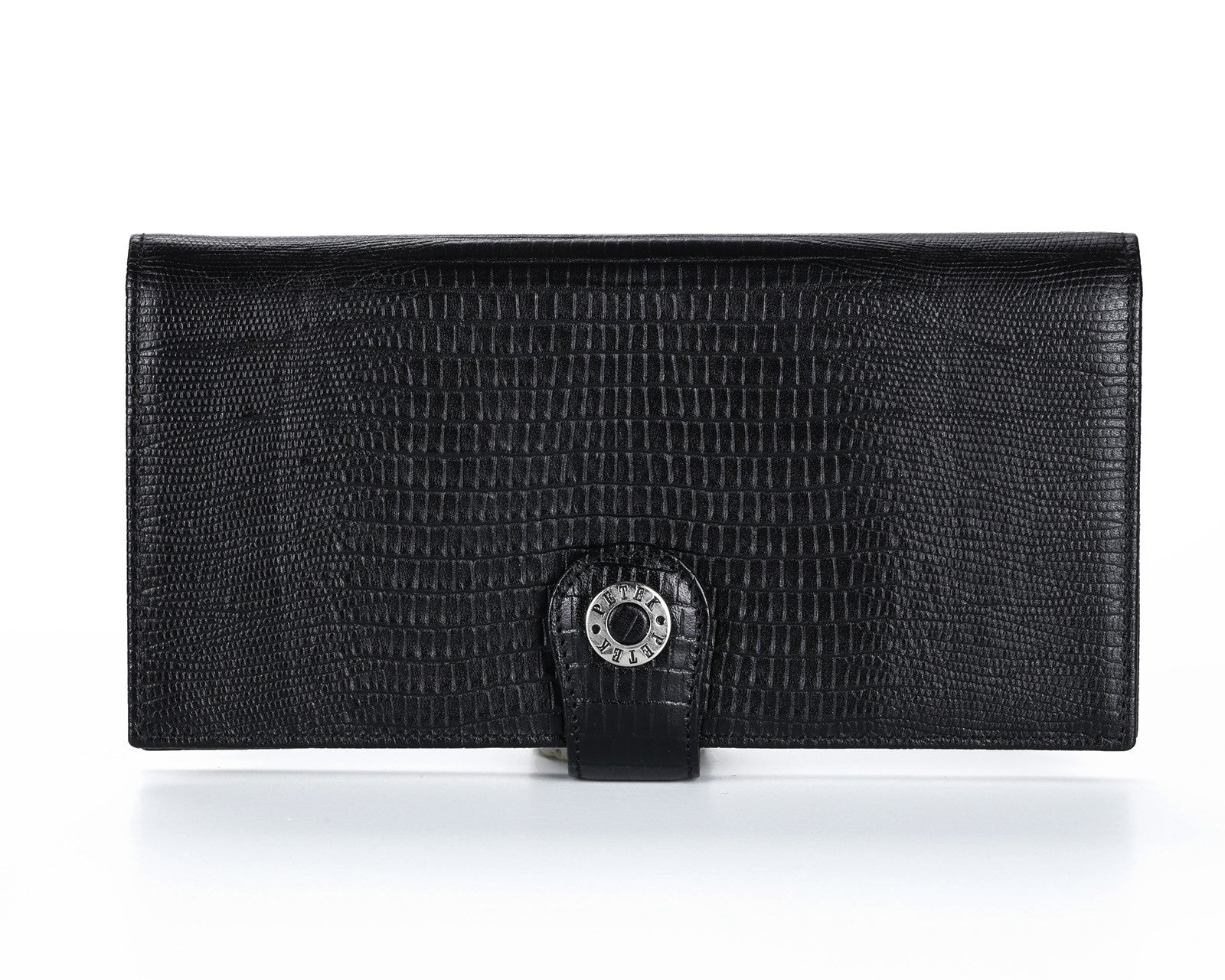 441 Crocodile Black, Petek 1855 Women's Leather Wallet