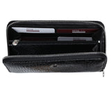 397 Crocodile Gloss  Black, Petek 1855 Women's Leather Wallet