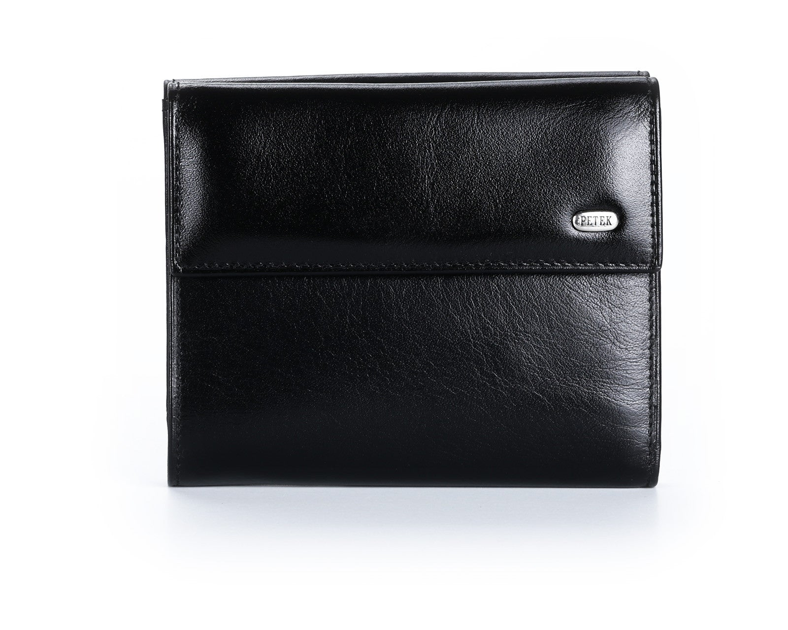 335 Solid Black, Petek 1855 Women's Leather Wallet