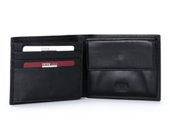 137, Petek 1855, Solid Black, Men's Leather Wallet