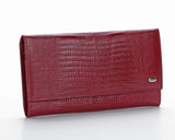 379 Crocodile Red, Petek 1855 Women's Leather Wallet