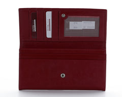 379 Solid Red, Petek 1855 Women's Leather Wallet
