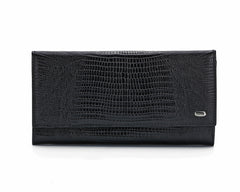 379 Crocodile Black, Petek 1855 Women's Leather Wallet