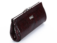 #409 Burgundy Crocodile Clutch
