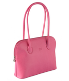 Petek 1855, Model 4001, Pink, Luxury Leather Handbag, Front