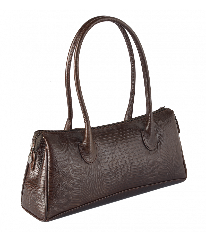 #4005 Petek 1855, Chocolate Brown, Ladies Handbag