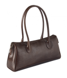 Petek 1855, Model 4005, Crocodile Brown, Luxury Leather Handbag, Front