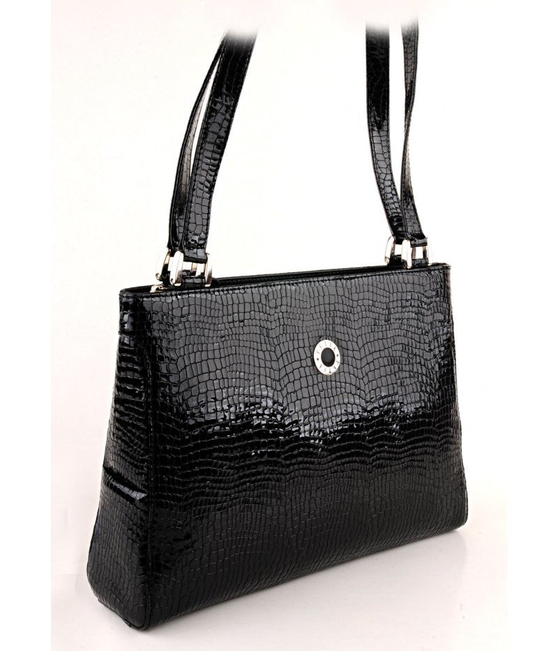 #4016 Petek 1855, Black, Ladies Handbag