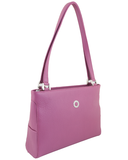 Petek 1855 Model: 4016, Purple, Luxury Leather Handbag, Front