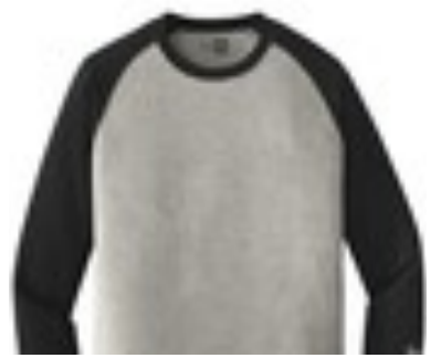 Grey/Black Baseball 3/4 Sleeve Shirt