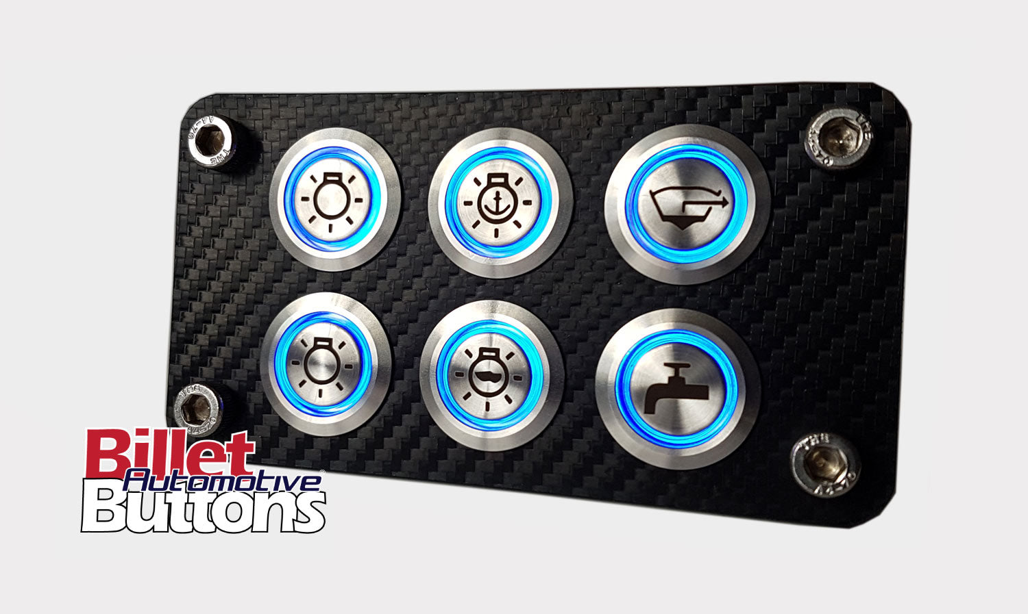 Billet Automotive Buttons Design Your Own Custom Panel Mounted Push On Hazard Switch Water Resistant