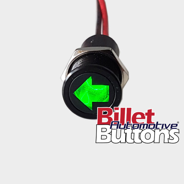 14mm 'INDICATOR TURN SYMBOL' LED Pilot Light Small Compact 12V Arrows