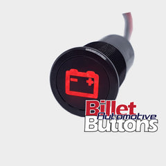 14mm 'BATTERY SYMBOL' LED Pilot Light Small Compact 12V Alternator