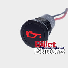 14mm 'OIL CAN SYMBOL' LED Pilot Light Small Compact 12V Oil Pressure
