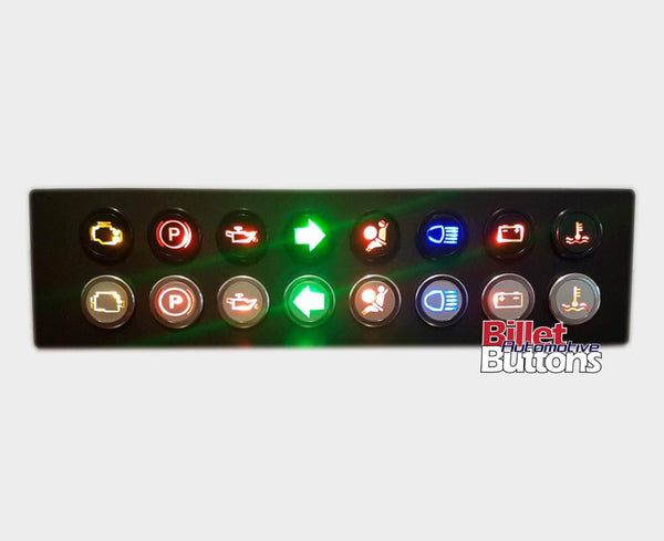 14mm 'FUEL SYMBOL' LED Pilot Light Small Compact 12V Low Fuel Warning