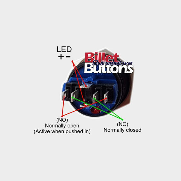 22mm 'UNDERWATER LIGHTS FRONT SYMBOL' Billet Push Button Switch Marine