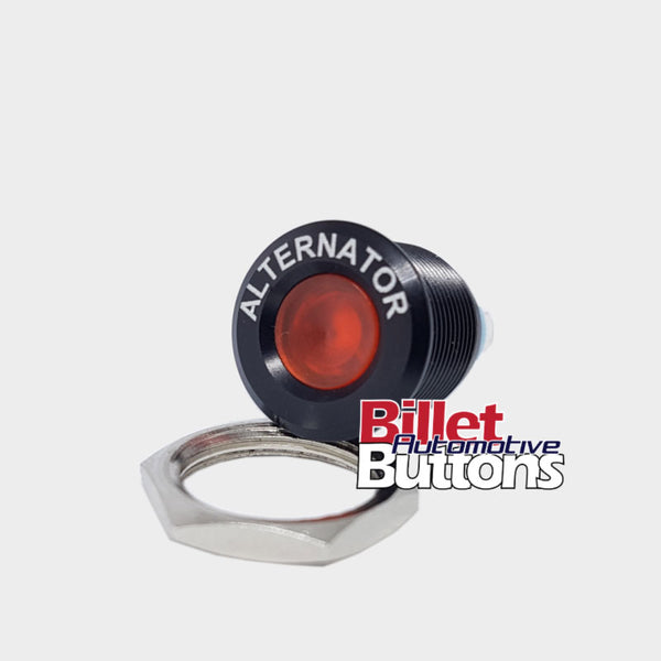16mm 'ALTERNATOR' LED Pilot / Warning Light Small Compact 12V