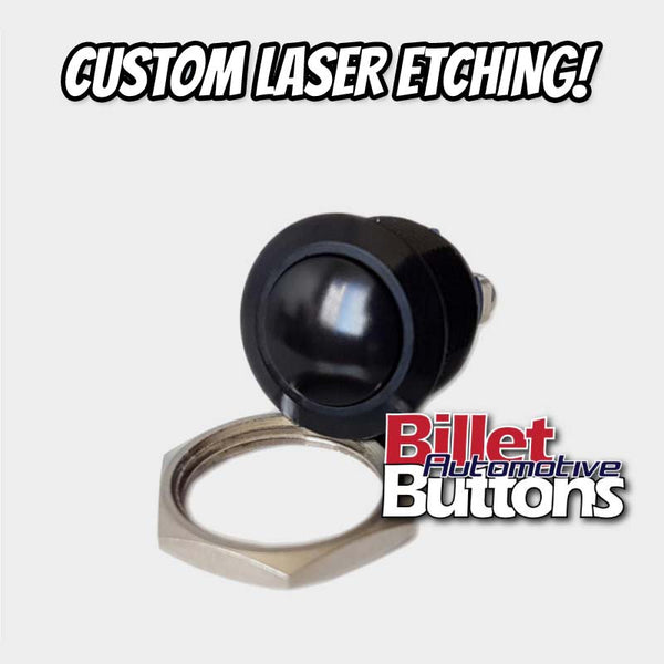 16mm 'CUSTOM LASER ETCHING' Push Button Switch Dome Top Small Compact