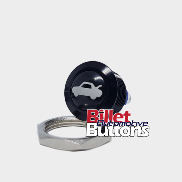 16mm 'BOOT/TRUNK SYMBOL' Push Button Switch Dome Top Small Compact