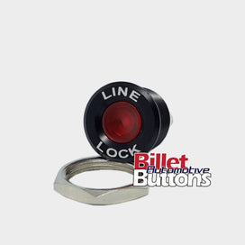 16mm 'LINE LOCK' LED Pilot / Warning Light Small Compact 12V
